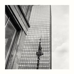 Fernsehturm on Np15 (rudeskull) Tags: blackandwhite rodinal orwo berlin ostberlin drr alexanderplatz fernsehturm bw rolleiflex mittelformat noiretblanc blanconegro