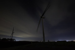 Wind Turbine at Night (Andy.Harper) Tags: wind turbine bicker fen donnington lincs night stars cloud