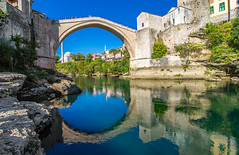 Stari Most (werner boehm *) Tags: wernerboehm starimost bosnienherzegowina reflection bridge architecture mostarbridge mostar 10mm
