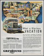 Greyhound Vacation (novice09) Tags: advertising ads ad advert magazinead