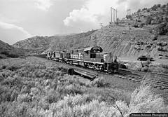 New Faces on the Utah Railway (jamesbelmont) Tags: utah railway santaferailway utahrailway rednarrows spanishforkcanyon narrows alco rsd15 rsd12 drgw riogrande martinturn coal lasco volkswagen superbeetle blackbart