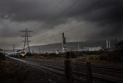IE Peeing It Down (Andrew Shenton) Tags: green 800308 iep iet 800 gwr margam port talbot wales rain gloom railway train 1z10