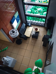 Artsand House MOC. Livingroom slightly from above. (betweenbrickwalls) Tags: lego afol moc legomoc architecture house building home architecturephotography living modern