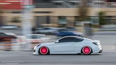 2019 Importexpo Toronto (HisPhotographs.com) Tags: toronto cne car lowered modded modified panning action motion fast slow blur hyundai genesis pink wheels pinkwheels white