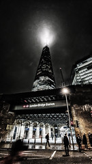 Evening time hustle and bustle (Andy J Newman) Tags: smartphone night nightphotography candid lowlight street tower colorefex londonbridge bleached landscapes shard london colour