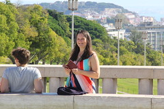 Lisbon 2019 - My wife Lisa at Parque Eduardo VII, Sao Sebastiao da Pedreira (Gareth Wonfor (TempusVolat)) Tags: garethwonfor tempusvolat mrmorodo gareth wonfor tempus volat lisbon lisboa portugal holiday lisa wife mywife smile beautifulwife happy happywife brunette beautiful 2019
