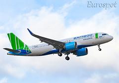 F-WWIU Airbus A320 Neo Bamboo Airways (@Eurospot) Tags: fwwiu vna596 airbus a320 neo a350251n 9306 bambooairways toulouse blagnac
