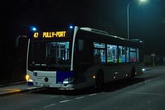 Mercedes Citaro Benz n°425 en service sur la ligne 47. © Marc Germann (Marc Germann) Tags: trolleybus naw bt25 tl lausanne ligne9 retrobus vanhool newa330 mercedescitarobenz transportspublics remorques historique historic fbw bus par brise convois