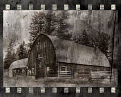 Barn (Crusty Da Klown) Tags: lac la hache cariboochilcotin laclahashe bc britishcolumbia canada barn rural bw black white monochrome summer outdoors outside travel