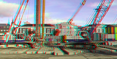 Nieuwbouw Stationsgebied Delft 3D (wim hoppenbrouwers) Tags: nieuwbouw stationsgebied delft 3d anaglyph stereo redcyan lumix gf3 stereorig 41cm