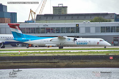 Luxair Dash 8 LX-LQB London City Airport 25 October 2019 (bananamanuk79) Tags: pictures aviation airplane airport london flying flight runway air travel transport pilot avgeek airways takeoff departure flyer vehicle outdoor airliner jet jetliner flyers travelling holiday logo livery painted airplanes aicraft photos airline airliners airlines londoncityairport lcy lcyairport egcl stol citycentreairport dehavilland dehavillandcanada dash8q400 luxair
