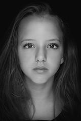 DSCF7624-10 (YouOnFoto) Tags: girl meisje woman vrouw eyes ogen hair haar lowkey portret portrait black white zwart wit closeup nabij intens intense mooi beauty fujifilm xt20 systeemcamera