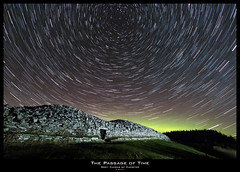 Passage Of Time (Gordon Mackie) Tags: camster cairns neolithic startrails starstax caithness aurora northernlights