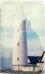 The man and the lighthouse (Geir Bakken) Tags: yashica yashica44 film filmisnotdead filmphotography filmcamera filmisalive 135 135film 127camera doubleexposure analog analogphotography lighthouse man kodak kodakektar