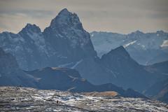 Exploring dimensions (julien383) Tags: alps switzerland schwyz rock snow autumn horizontal vertical