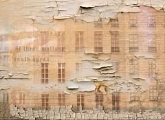 If these walls could speak (charhedman) Tags: windows paris composite buildings text peelingpaint grungelook slidersunday photoshopartistry iusebrushesicreatedinps thankstoandrewforhiscritiquesandinspiration