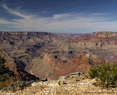 Grand Canyon Southern Rim (Constantine L.) Tags: grand canyon southern rim desert view arizona national park nature geology scenic landscape sky blue clouds cloud red rock vista landmark
