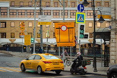 Yellow (TMStorari) Tags: moscow russia mosca yellow taxi street streetphotography urbanstyle urbanphotography moskva cars traffic city bigcity città stadt cities cityscapes москва россия город