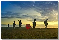 soldiers (jonallard) Tags: essex merseaisland soldiers poppy sunset landscape sonya6000 samyang