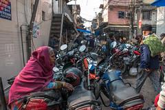 Observing Old Delhi (shapeshift) Tags: delhi in candidphotography davidpham davidphamsf india motorcycles newdelhi olddelhi parking people shapeshift shapeshiftphoto streetphotography transport transportation woman working documentary socialdocumentary