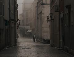 Zadar (V Photography and Art) Tags: fog mist street nun oldtown zadar mood atmosphere buildings architecture alleys flickrfriday