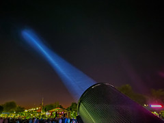 Spotlight (oybay©) Tags: iphone iphone11 iphone11promax promax suncitywest arizona beardsleypark searchlight spotlight light concert park night nightmode color colors lighting sky