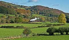 autumn arrives (midcheshireman) Tags: steam train locomotive llangollen llangollenrailway landscape wales railway 51xx