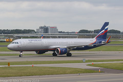VP-BTK - 2018 build Airbus A321-211, taxiing to gate shortly after arrival at Schiphol (egcc) Tags: 7934 avertinsky a321 a321211 afl ams aeroflot airbus amsterdam eham lightroom russianairlines su schiphol sharklets skyteam vpbtk