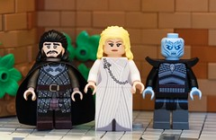 Game of Thrones inspired Minifigures available now! (ekjohnson1) Tags: snow jon lego gameofthrones fire iron king throne winter ice is song fantasy minifigs coming stark hbo baelish peter arya got littlefinger cerci tyrion sansa lannister nightking whitewalker custom daenerys minifigures