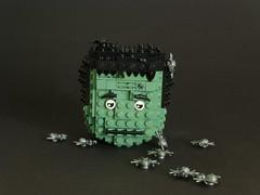 Halloween head (Brixe63) Tags: lego halloween frankenstein monster sphere contest doctorbrick