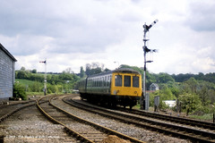 13/05/1987 - Gainsborough (Lea Road), Lincolnshire. (53A Models) Tags: britishrail derby heavyweight class114 dmu diesel passenger learoad gainsborough lincolnshire train railway locomotive railroad