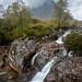 Etive Mor Waterfall against Stob Dearg