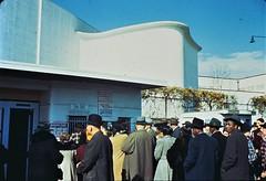 World of Tomorrow: Lines at the Flushing Gate of the New York World's Fair at 1 p.m. October 27, 1939. (polkbritton) Tags: 1930s gottschoschleisner libraryofcongresscollections newyorkhistory worldsfair newyorkworldsfair newyorkcity vintagefashion artdeco