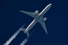 Turkish Airlines Boeing 777-3F2(ER) TC-JJY (Thames Air) Tags: turkish airlines boeing 7773f2er tcjjy contrails contrailspotting
