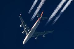 Kalitta Air Boeing 747-4R7(F) N700CK (Thames Air) Tags: kalitta air boeing 7474r7f n700ck contrails contrailspotting
