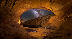 Alcove (Wayne Pinkston) Tags: alcove littlewildhorsecave cavearch pondreflections night uthh sky nightsky nightphotography nightlandscape waynepinkston waynepinkstonphotocom lightcraftercom stars starrynight starrysky milkyway galaxy astrophotography landscapeastrophotography widefiledastrophotography