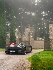 Misty Morning (Mattia Manzini Photography) Tags: ferrari monza sp2 supercar supercars cars car carspotting carbon nikon d750 v12 grey red automotive automobili auto automobile autodromo mugello mugellocircuit tuscany fog mist misty foggy