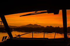 D29919E7 - Mt Diable At Sunset From Our Boat (Bob f1.4) Tags: mt mount diablo silhouette boat windshield orange sky sunset water california sacramento delta ca outdoors anchored spend night day is done