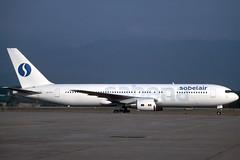 Sobelair B767-329ER OO-STF GRO 04/07/1996 (jordi757) Tags: airplanes avions nikon f90x kodachrome kodachrome64 gro lege girona costabrava boeing 767 b767 b767300 sobelair sabena oostf