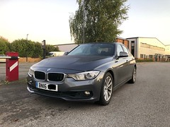 One of North Yorkshire Police unmarked BMW 330D XDrive Saloons Roads Policing Units -- after having been recovered to outside Thirsk Workshops 27/10/2019. (ALAN MAGILL) Tags: xdrive unmarked roadspolicing northyorkshirepolice bmw