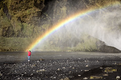 See the rainbow, Feel the rainbow, Skogafoss, Iceland (mpmark) Tags: landscape rainbow landscapephotography travel candid explore traveler lonley skogafoss worldexplorer lonelyplant ourplanet canon5dmkiv traveliceland exploreiceland canon2470ii 247028lii loveiceland waterfall thatlight funny tourists candidphotography