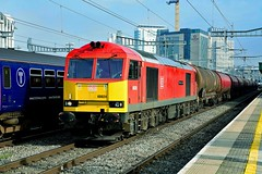 60024 seen here passing Cardiff Central with the Westerleigh OT to Robeston tanks (robert.cut) Tags: 60024 tanks cardiff central robeston westerleigh ot great western main line 2019 class 60 nikon d850 24 70 mm lens f28 db red