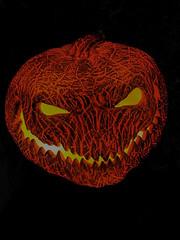 pumpkin head (remiklitsch) Tags: orange black pumpkinhead halloween remiklitsch iphone phonography santamonica 2019