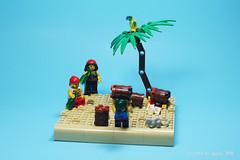 Pirate Keg Toss Game