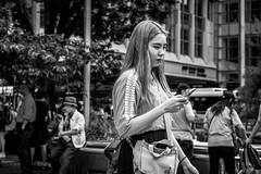 Tokyo 2019 (burnt dirt) Tags: asian japan tokyo shibuya station streetphotography documentary candid portrait fujifilm xt3 bw blackandwhite laugh smile cute sexy latina young girl woman japanese korean thai dress skirt shorts jeans jacket leather pants boots heels stilettos bra stockings tights yogapants leggings couple lovers friends longhair shorthair ponytail cellphone glasses sunglasses blonde brunette redhead tattoo model train bus busstation metro city town downtown sidewalk pretty beautiful selfie fashion harajuku sweater people person costume cosplay