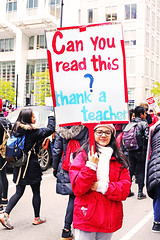 Can You Read This? (kirstiecat) Tags: read reading teacher canyoureadthis thankateacher ctu teachers strike teachersstrike chicagopublicschools cps chicagoteachersunion protest rally female woman student chicago sign politics liberal education publiceducation literacy