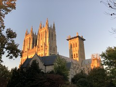 National Cathedral, orange light at sunset, Washington, D.C. (Paul McClure DC) Tags: washingtondc districtofcolumbia oct2019 autumn cathedral historic architecture nationalcathedral