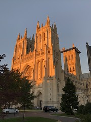 National Cathedral, orange light at sunset, Washington, D.C. (Paul McClure DC) Tags: washingtondc districtofcolumbia oct2019 autumn cathedral historic architecture nationalcathedral sunset
