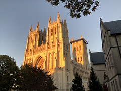 Setting sun lighting up National Cathedral, Washington, D.C. (Paul McClure DC) Tags: washingtondc districtofcolumbia oct2019 autumn cathedral historic architecture nationalcathedral