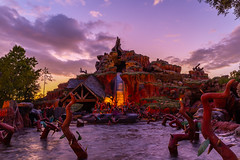Sunset over Splash (Jared Beaney) Tags: travel usa america photography canon6d park sunset canon photographer parks disney resort waltdisneyworld resorts themepark magickingdom splashmountain themeparks amusementpark amusementparks frontierland